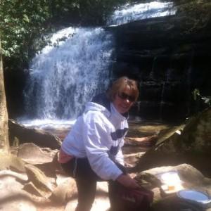 Dianne at Long Creek Falls