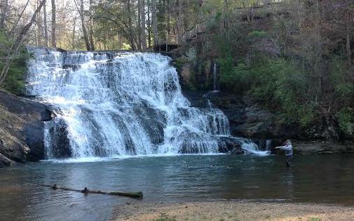 waterfall cottage long mountain lodge