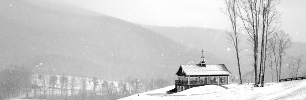 Chapel Covered in Snow