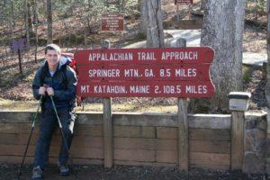 thru-hiker starting from Amicalola